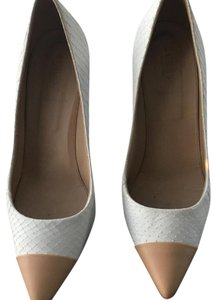 J.Crew White and Beige Pumps