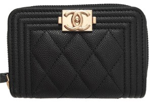 Chanel BNWT Chanel Zip Around Wallet in Black Caviar Leather with GHW