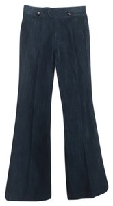 Anlo Buttons Boot Cut Jeans-Dark Rinse