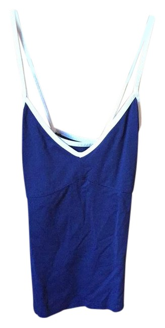 Abercrombie & Fitch Navy Blue and White Workout Activewear Top Size 8 (M) Abercrombie & Fitch Navy Blue and White Workout Activewear Top Size 8 (M) Image 1