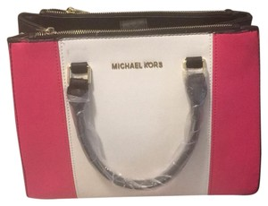 Michael Kors Satchel in pink white black
