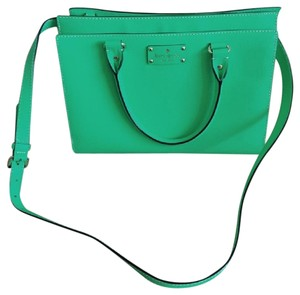 Kate Spade Leather Structured Convertible Nwot Satchel in Green