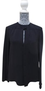Balenciaga Designer Silk Detail Top Black