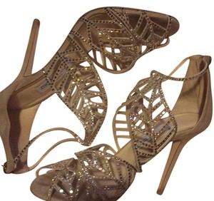 Jimmy Choo nude mix with hot fix crystals Formal