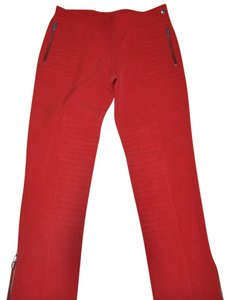 Moschino Straight Pants Red