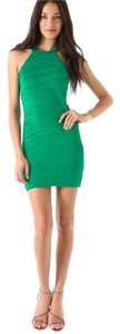 Torn by Ronny Kobo Pleated Mini Bodycon Dress