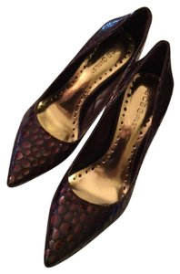 BCBGeneration Leather Reflective Stiletto Comfortable Brown/Copper Pumps