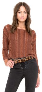 Amuse Society Biscay Brown Sweater