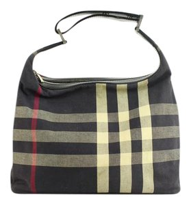 Burberry Artsy Delightful Hobo Portobello Satchel in Navy Blue