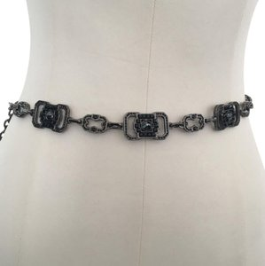 Judith Leiber Chain Belt With Crystal in Jet