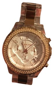 Michael Kors Clear and rose gold