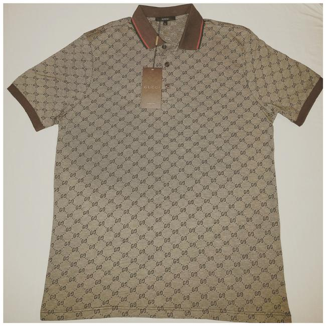 Item - Brown Men Polo Tee Shirt Size 12 (L)