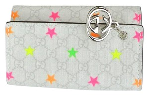 Gucci Gucci GG Plus Key Chain/Holder w/Star Tattoo GG Charm, 212111 8688
