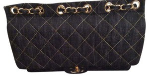 Chanel Serial Id Card Dust Box Quilted Denim Shoulder Bag