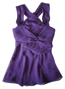 Diane von Furstenberg Dvf Silk Plum Sexy Top Purple Plum