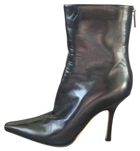 Jimmy Choo Stiletto Leather Black Boots