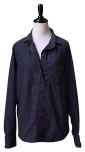 Rag & Bone Chambray Tunic Button Down Shirt Blue