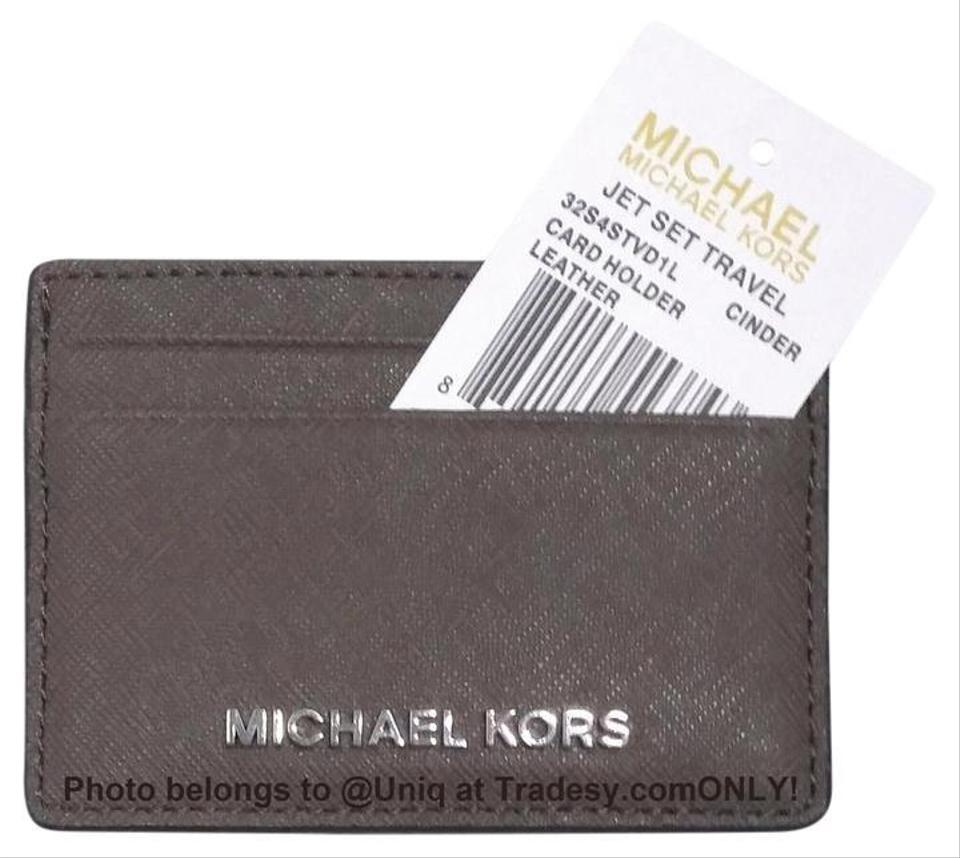 d36410709524 Michael Kors NWT MK Saffiano Leather Card Case Credit Card Holder Wallet ...