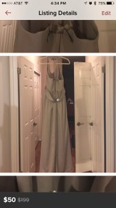 Vera Wang Stone Stone Long Bridesmaid Dress Dress