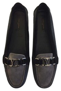 Louis Vuitton Loafer Suede Grey Flats