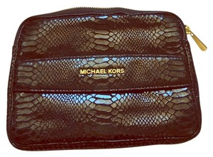 Michael Kors Laptop Sleeve Python-embossed Zipper Laptop Bag