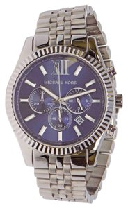 Michael Kors NEW MENS MICHAEL KORS (MK8280) LEXINGTON SILVER TONE CHRONOGRAPH WATCH