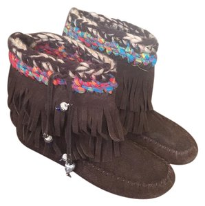 Jeffrey Campbell Fringe Hobo Free People Moccasin brown Boots