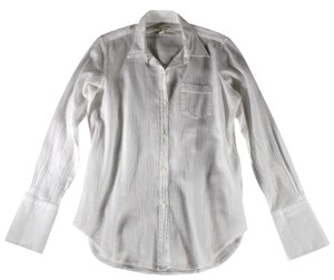 Nili Lotan Blouse Shirt Button Down Shirt White