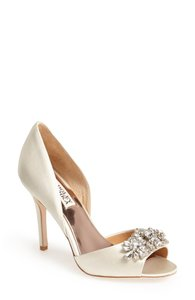 Badgley Mischka Giana' Satin D'orsay Pump Wedding Shoes