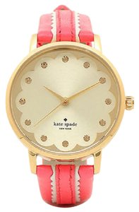 Kate Spade Kate Spade Metro Ladies Geranium Scalloped Leather Watch NIB