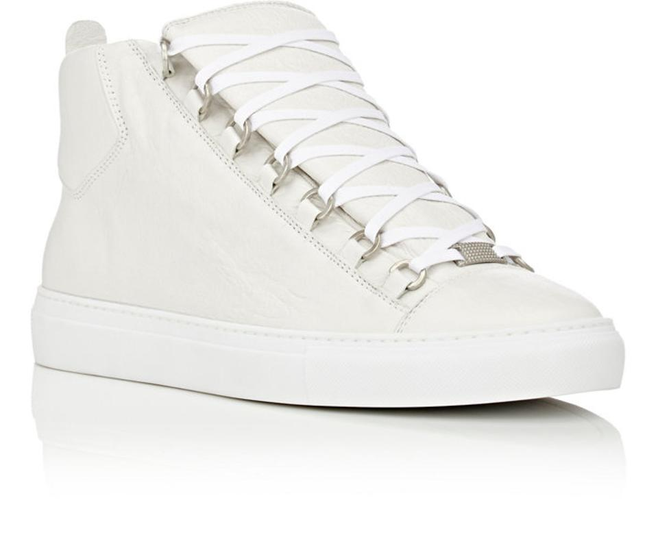 bc13441451aa Balenciaga White Men s High Top Arena Sneakers Blanc Eu 41 Sneakers ...