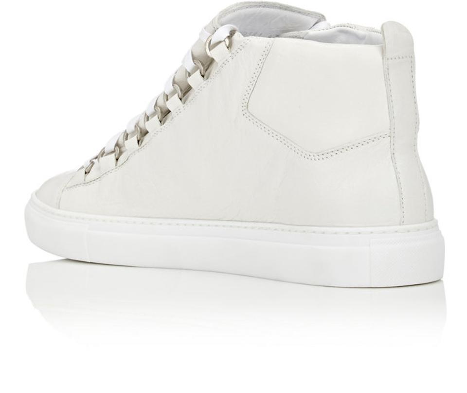 Sneakers Blanc Balenciaga Men's Sneakers Eu High 41 Top Arena White nXHqav