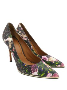 Givenchy Heels Floral Print Black, Multi-Colored Pumps