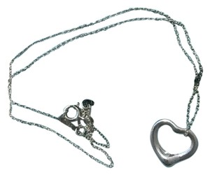 Tiffany & Co. TIFFANY & Co ELSA PERETTI LARGE OPEN HEART PENDANT NECKLACE