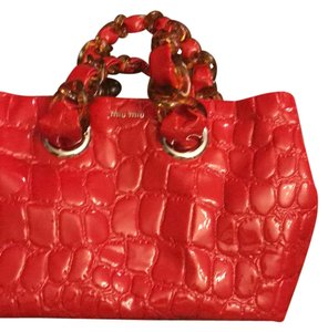 Miu Miu Satchel in red