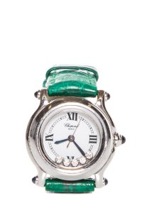 Chopard Happy Sport 8245 Stainless Steel Green Band Watch