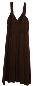 Theory Tea Length Brown Midcalf Dress