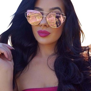 Other Rosegold cat eye mirrored over frame shades sunglasses