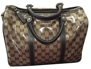 Gucci Satchel in Beige/Ebony/Brown