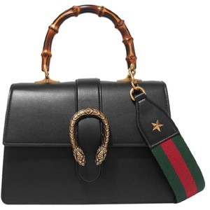 Gucci New Dionysus Sold Out Tiger Tote in Black