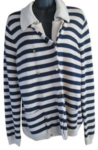 Tommy Hilfiger Striped Sweater Winter Spring Nautical Cardigan