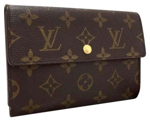 Louis Vuitton Louis Vuitton Monogram Porte Tresor Etui Papiers Trifold Wallet.