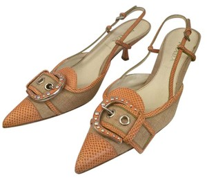 Prada Orange/Tan Pumps