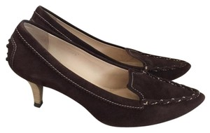 Tod's Suede Pointy Toe Brown Pumps