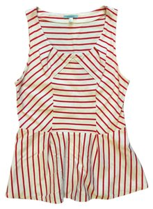 Anthropologie Top Red/White Stripe