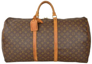 Louis Vuitton Duffle Duffel Gym Keepall Suitcase Monogram Travel Bag