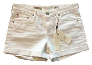 AG Adriano Goldschmied Hailey Agjeans Cuffed Shorts White