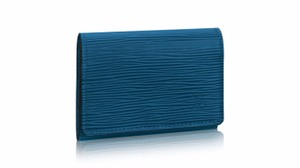 Louis Vuitton enveloppe envelope carte de visits bleu celeste blue epi card case