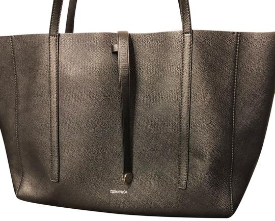 Preload https://item3.tradesy.com/images/tiffany-and-co-black-tan-leather-tote-2070252-0-4.jpg?width=440&height=440