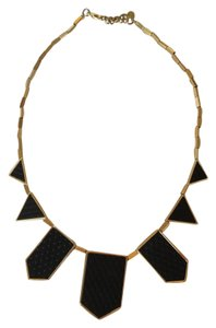 House of Harlow 1960 House of Harlow 1960 Geometric Leather Station Necklace